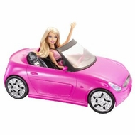 Barbie Glam Pink Convertible and Barbie Doll - click to enlarge