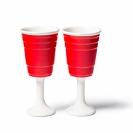 Big Mouth Toys Red Cup Wine Glass - click to enlarge