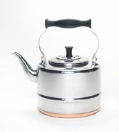 BonJour 53087 2-Qt Stainless Steel Classic Tea Kettle with Copper Bottom - click to enlarge