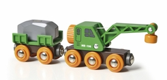Brio Clever Crane Wagon and Vehicle - click to enlarge