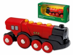 Brio Mighty Red Action Battery-Powered Locomotive - click to enlarge