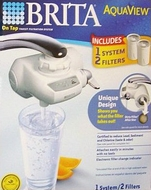 BRITA 35534 AquaView Faucet Mount Water Filter w/ 2 Filters - click to enlarge