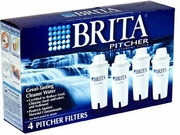 BRITA 42432 Replacement Filters for Drinking Water Pitchers (4 pack) - click to enlarge