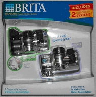Brita 42763 Disposable Faucet Filtration Systems Combo Pack - click to enlarge