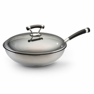 Circulon 75004 Contempo Stainless Steel Nonstick Twelve and a Half Inch Covered Deep Skillet - click to enlarge
