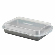 Circulon Nonstick Bakeware 9-Inch-by-13-Inch Rectangular Cake Pan with Lid - click to enlarge
