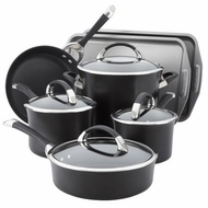 Circulon Symmetry Hard Anodized Nonstick 9-Piece Cookware with 2-Piece Bakeware Set - click to enlarge