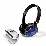 Coby CV18523BLU Jammerz Xtreme Deep Bass Stereo Headphones and Speakers, Blue - click to enlarge
