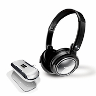 Coby CV18523SIL Jammerz Xtreme Deep Bass Stereo Headphones and Speakers, Silver - click to enlarge