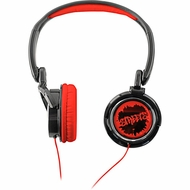 Coby CV400RED Jammerz Streets Urban Style Deep Bass Headphones, Red - click to enlarge
