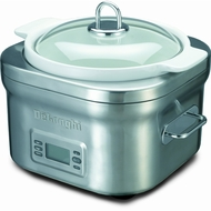 Delonghi 5Qt. SS/White Compact Slow Cooker