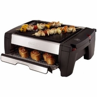 DeLonghi BQ100 Indoor Grill and Smokeless Broiler - click to enlarge