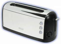 DeLonghi CT54 Chrome 4-Slice Toaster - click to enlarge