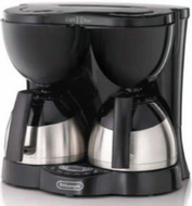 DeLonghi DD1000TCB Dual Drip Coffee Maker - click to enlarge