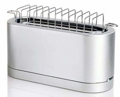 DeLonghi DTT980 Brushed Aluminium 4-Slice Toaster - click to enlarge