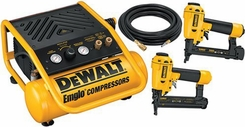 DeWalt D55141BNS Heavy-Duty Brad Nailer, Stapler, and Compressor Combo Kit - click to enlarge