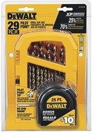 DEWALT DW1969TM Heavy Duty 29-Piece Pilot Point Set with FREE Tape Measure - click to enlarge