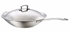 Dr. Weil  1912A  Healthy Kitchen 12'' Covered Wok Set - click to enlarge