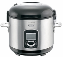 Dr. Weil 9812 Healthy Kitchen 5 Cup Stainless-Steel Rice Cooker - click to enlarge