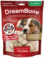 DreamBone Chicken Dog Chew Mini 24count - click to enlarge