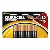 Duracell Coppertop Batteries - click to enlarge