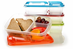 EasyLunchboxes 3-Compartment Bento Lunch Box Containers, Set of 4, Classic 2 pack - click to enlarge