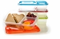 EasyLunchboxes 3-Compartment Bento Lunch Box Containers, Set of 4, Classic 4 pack