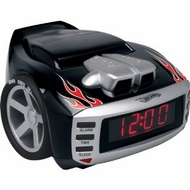 Emerson Radio Hot Wheels HW800 Snore Slammer Alarm Clock Radio - click to enlarge