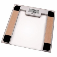 Escali B180SC Glass Platform Bathroom Scale, 400lb - click to enlarge