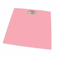 Escali B180SC Glass Platform Bathroom Scale, Soft Pink 400lb - click to enlarge