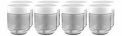 Euro Cuisine 8 glass jars for yogurt maker - click to enlarge