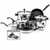 Farberware 50049 Classic Stainless Steel 15-Piece Cookware Set - click to enlarge