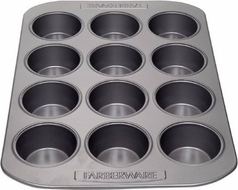 Farberware 52106 Nonstick 12 Cup Muffin Pan - click to enlarge