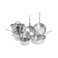 Farberware 75653 Millennium Tulip Shaped 10-Piece Set, Stainless - click to enlarge