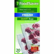 FoodSaver FSFSBF0216-000 Quart Size Bags (20pack) - click to enlarge