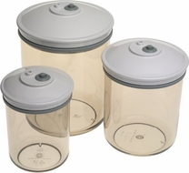 FoodSaver T02-0052-01 3-Piece Canister Set - click to enlarge