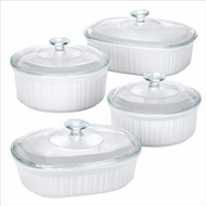 French White 8 Piece Bake & Serve Set - click to enlarge