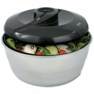 Fresco FSS-40S Stainless-Steel Salad Spinner - click to enlarge
