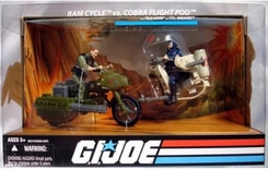 G.I. Joe Ram Cycle vs. Cobra Flight Pod - click to enlarge