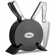 Ginsu 4887 5pc Stainless Set Black - click to enlarge