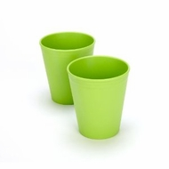 Green Eats 2 Pack Tumblers, Orange - click to enlarge