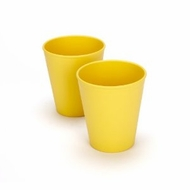 Green Eats 2 Pack Tumblers, Yellow - click to enlarge