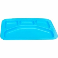 Green Eats Divided Tray, Blue - click to enlarge