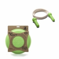 Green Toys EcoSaucer Flying Disc and Green Jump Rope - click to enlarge