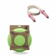 Green Toys EcoSaucer Flying Disc and Pink Jump Rope : Made in America - click to enlarge