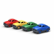Green Toys Mini Fastback Set of 4 Cars : Made in America - click to enlarge
