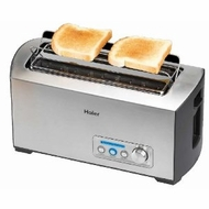 Haier TST240SS Stainless-Steel Long-Slot 4-Slice Digital Toaster - click to enlarge
