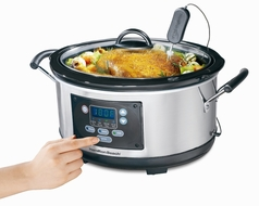Hamilton Beach 33966 Set n Forget 6 Quart Programmable Slow Cooker - click to enlarge