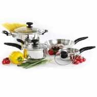 Hamilton Beach 54510 7 Piece Stainless Steel Cookware Set - click to enlarge