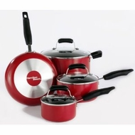 Hamilton Beach 92026 7 Piece Red Cookware Set - click to enlarge